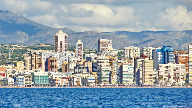 Benidorm from the sea