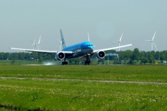Plane spotting at Amsterdam Airport Schiphol