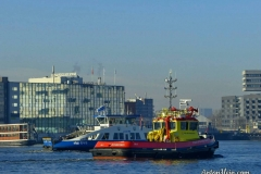 Port of Amsterdam pilot boat meets the NDSM ferry